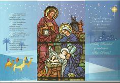 Imagen imitación vitral en tarjeta de San Päblo Serie Estrella de Belén No 9