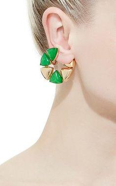 5e140aff2 Vhernier - Freccia Medio Jade Rose Gold Earrings Cuff Earrings, Rose Gold  Earrings, Wrap