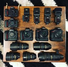 Where are all our Nikon shooters out there? Not going to lie this setup is pretty sick. Want to try it before you buy it? Check out Love this collection of Nikon gear by Nikon Camera Lenses, Slr Camera, Nikon Cameras, Canon Dslr, Leica Camera, Canon Eos, Camera Hacks, Camera Gear, Camera Tips