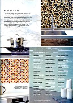 Key contacts for innovative kitchen materials http://laurencepidgeon.com Beautiful Kitchens February 2014