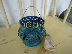 The Boston Lady: Recycling - Florida Keys Style - gorgeous lantern made from a 20 oz can of tomatoes
