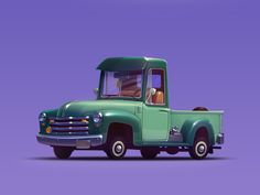 Chevy pickup 1950 by Artua #Design Popular #Dribbble #shots