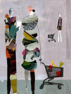 Lost in the supermarket by Andrea D'Aquino. (Manejo de espacios y perspectiva).