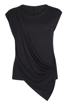 4e5ca559cc5 Primark - Top negro con drapeado frontal Primark