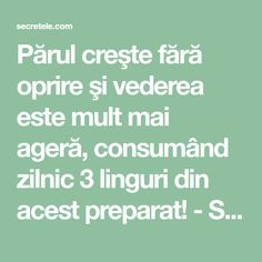 Părul creşte fără oprire şi vederea este mult mai ageră, consumând zilnic 3 linguri din acest preparat! - Secretele.com Home Remedies, Natural Remedies, Weight Loss Detox, How To Get Rid, Good To Know, Health Tips, Health Fitness, Skin Care, Exercise