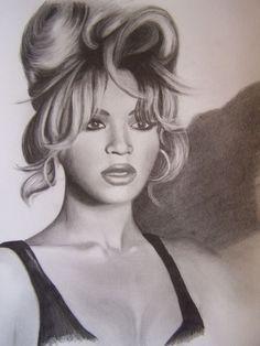 Beyonce Drawing by poorlittlemija