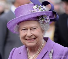 The Queen at the garden party