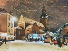 Snowy Riga is even more beautiful.