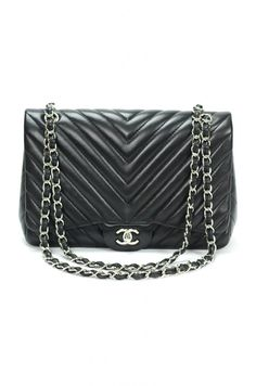 "Chanel Lambskin Chevron Maxi Jumbo Single Flap Bag $3675 This is it. The ""board"" bag. The bag I will one day have if it kills me... Or bankrupts me, ha."