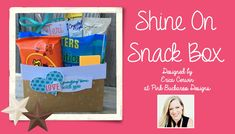 Stampin' Up SHINE ON SNACK BOX VIDEO TUTORIAL