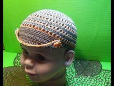 Вязание крючком кепка для мальчика #165 - YouTube