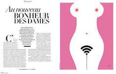 "Illustration ""Sexpowerment on  internet""  for Madame Figaro"