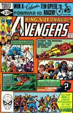 COMIC BOOK: The AVENGERS ANNUAL # 10 (Vol I) 1981. MARVEL COMICS. WRITER: Chris Claremont. ARTIST: Al Milgrom. COVER PRICE: $0.75. CHARACTER: Avengers, The Brotherhood of Evil Mutants, Spider-Woman, The X-Men. NOW PRICE: $80.00. CONDITION: Near Mint.  (1st app of Rogue) , (1st app of Maddy Pryor).