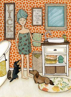 Everything About The Spunky Daschund Puppies Exercise Needs Dapple Dachshund, Dachshund Art, Canvas Artwork, Canvas Prints, Art Prints, Weenie Dogs, Doggies, Dog Art, Animal Rescue
