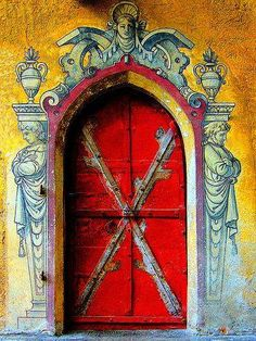 Gorgeous door, Burma.