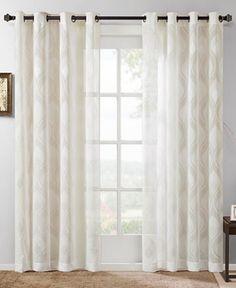 Madison Park Adele Ogee Jacquard Sheer Window Panel