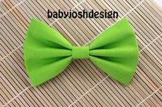 Lime Fabric Hair bow for teens or womengirls by babyjoshdesign