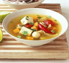Hot & sour vegetable soup with tofu - I love the warm taste of a soup