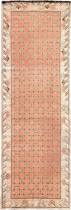 "ANTIQUE SAMARKAND Origin: EAST TURKESTAN Size: 3' 0"" x 8' 8"" Rug ID # 1404"