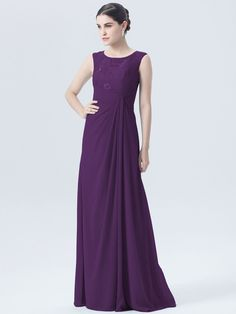 Illusion Neckline Lace Chiffon Dress - mixbridal.com Designer Bridesmaid  Dresses 9458a53227a1