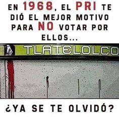 En Tlatelolco, en Aguas blancas, Atenco, Acteal, y la lista es larguísima... Hasta en #GuarderiaABC te dieron motivos pero el Mexicano es de memoria muy corta y se deslumbra fácilmente con cualquier BASURA!!!