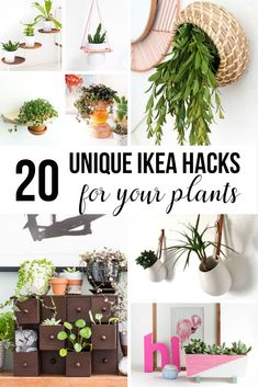 Wow!! Gorgeous Ikea hacks for plants. I love all these Ikea planters for indoor decor.
