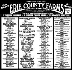 Erie County Farms Weekly Ad | Erie County Farms | Pinterest ...