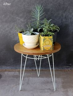 Before and After: DIY Plant Stand to Side Table Makeover