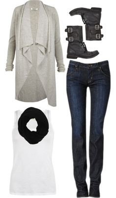 "Love the cardigan w leggings and boots ....OOTD"" by southernbelle on Polyvore"