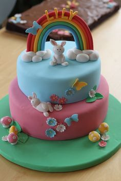 Rainbow Fondant | ... . All decorations made of fondant with a little tylose added