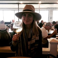 || One happy girl. Killing a two hour layover with a little wine. [A] #OUTINON #MauiBound