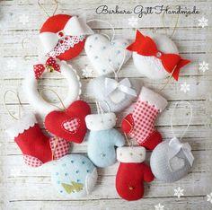 Barbara Handmade...: Zawieszki na choinkę / Christmas decorations