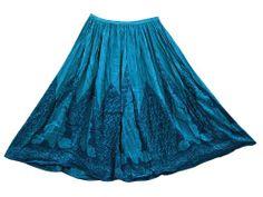Womens Skirt Dodger Blue Printed Crinkle Boho Gypsy Long Skirt Mogul Interior,http://www.amazon.com/dp/B00IJTBFTE/ref=cm_sw_r_pi_dp_nmejtb198MJARS47