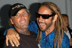 HOLLYWOOD - MAY 24: Original Z-Boys pro-skaters Tony Alva (R) and Jay Adams arrive at the Premiere of TriStar Pictures 'Lords Of Dogtown' at the Mann's Chinese Theater on May 24, 2005 in Hollywood, California. - Stephen Shugerman / Getty Images
