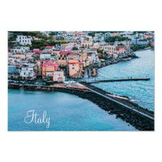 Shop Ischia, Italy - Postcard created by stdjura. Souvenirs From Italy, Naples, Old Town, New York Skyline, Old Things, Europe, River, Island, Poster