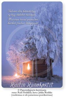 Kytötupa ja sininen hetki, Railin Runokortti (joulukortti)