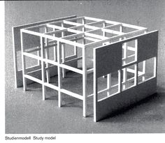 House study model by Peter Eisenman