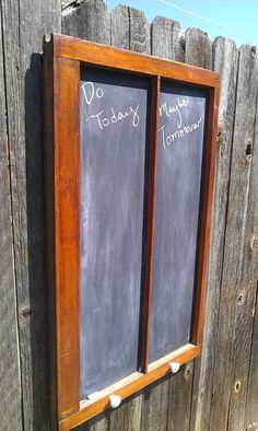 Salvaged Window Frame Chalkboard by RustedFinchRoad on Etsy, $55.00