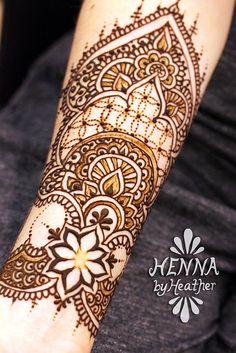 Henna by Heather - Inner forearm cuff henna design