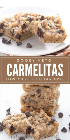 Sugar Free Sweets, Low Carb Sweets, Low Carb Desserts, Low Carb Recipes, Diabetic Desserts, Keto Dessert Easy, Dessert Recipes, Dessert Bars, Low Carb Oatmeal