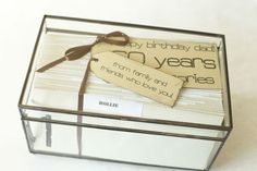60th birthday gift idea.  Letters from friends!                                                                                                                                                                                 More