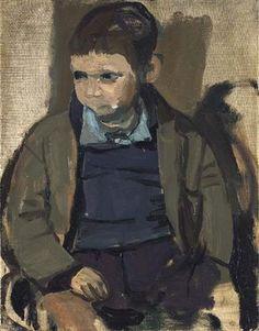 Joan Kathleen Harding Eardley, R. , Boy in Blue Jersey Figure Painting, Painting & Drawing, Glasgow School Of Art, Magazine Art, Figurative Art, Art Pictures, Photos, Painting Inspiration, Female Art
