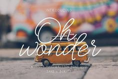 Oh Wonder Font + Bonus Font & Logos by theinkaffair on @creativemarket