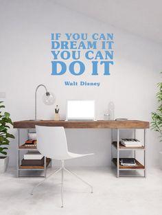Wandtattoo Walt Disney Zitat Dream It Do It Erfolg Von Wandalas Auf  DaWanda.com