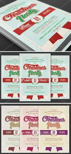 Church Christmas Party Flyer Template can be used for variety of events but is geared for the Church or Office Christmas Party Events that needs a retro theme. Design with green and red text accented with a light blue background.