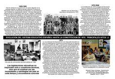 Esta ficha muestra las leyes educativas españolas desde el franquismo hasta la restauración de la democracia.