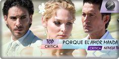 Llego el momento de hablar de Porque El Amor Manda, una telenovela que ha llegado a alcanzar la gloria del primer lugar, cuando aun el horario de las 8 es famoso por sus comedias, esta llego a lacúspide!
