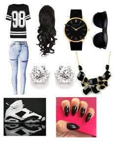 """""""Lil CAM"""" by camrin-anderson ❤ liked on Polyvore featuring NIKE, Larsson & Jennings and Emi Jewellery"""