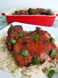 SLOW COOKER CHICKEN ADOBO  It was soooo easy to cook and finishing it in the broiler made it nice a crispy. Had a really nice flavor and not overpowering. The cayenne pepper gave the chicken a nice warm sensation.