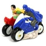 Batman & Robin on Bikes - Salt & Pepper Shakers